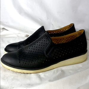 Natural Soul Slip On Black Casual Shoes Size 10